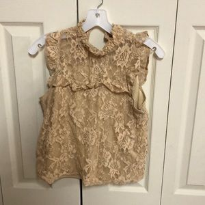 Laced flowy shirt